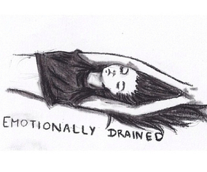 girl, tired, and drained image