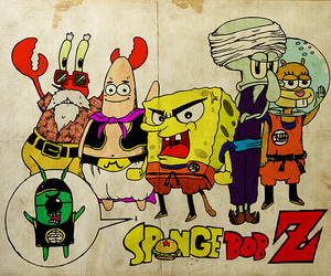 spongebob and dragon ball z image