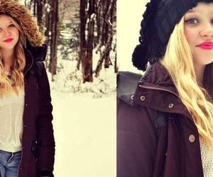 model, white, and winter image