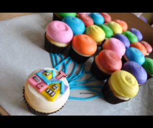 colorful, cupcakes, and up image