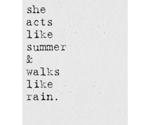 quote, rain, and summer image