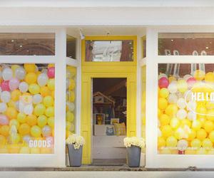 balloons, display, and window image