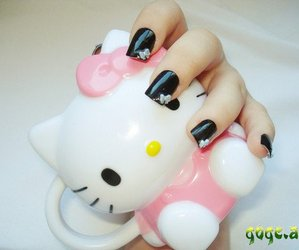 hello kitty, nails, and cute image