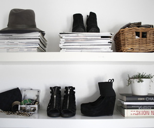 fashion, shoes, and book image