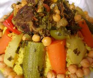 couscous, arabic food, and moroccan food image