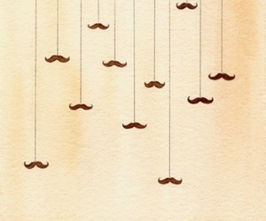 brown, mustache, and string image