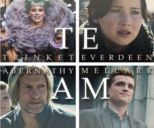 team, peeta mellark, and katniss everdeen image