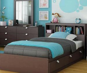 bedroom, cute, and blue image