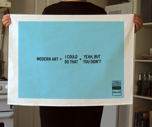 funny, modern art, and towel image