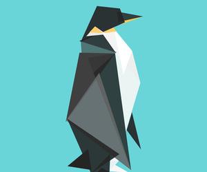 geometric, illustration, and penguin image