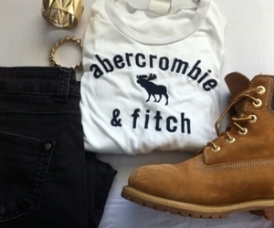 shoes, timberland, and abercrombie image