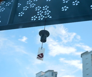 chimes, wind bell, and japan image