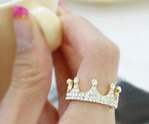 ring, crown, and fashion image