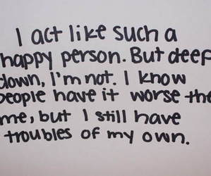 quote, sad, and trouble image