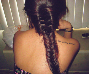 brunette, perfect hair, and fishtail image