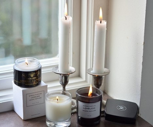 candles, chanel, and cosmetics image