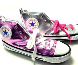 converse, pink, and pencilcase image