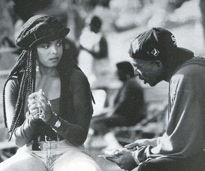 2pac, black and white, and janet jackson image