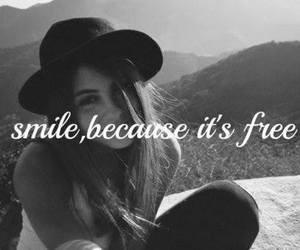 smile, free, and quote image