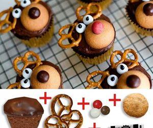 muffin, raindeer, and rudolph image