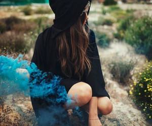 girl, blue, and photography image