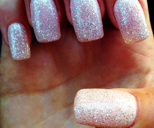 nails, pink, and sparkles image