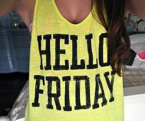 fashion, yellow, and friday image