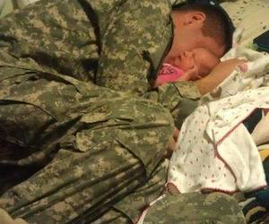 baby, military, and love image