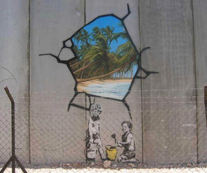 BANKSY, beach, and favourite image