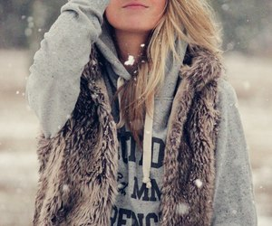 blonde, cool, and fur image