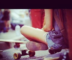girl, short, and skate image