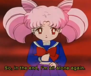 sailor moon and forever alone image