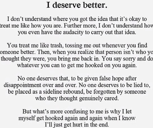 respect, false love, and i deserve better image