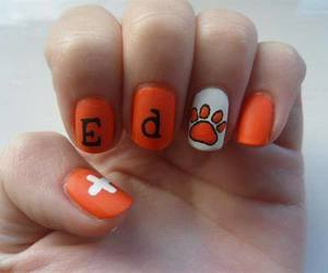 nails, ed sheeran, and orange image