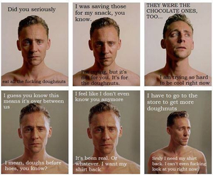 cry, doughnuts, and tom hiddleston image