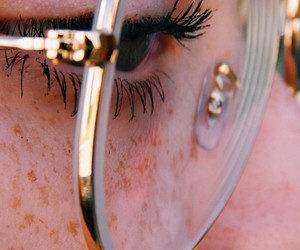 glasses, eyes, and freckles image
