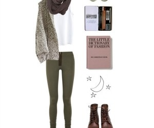 book, cardigan, and casual image