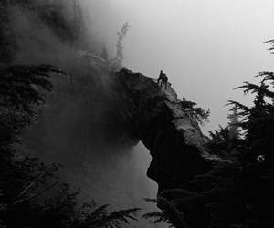cliff, forest, and people image