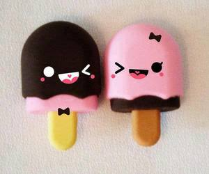 cute, ice cream, and pink image