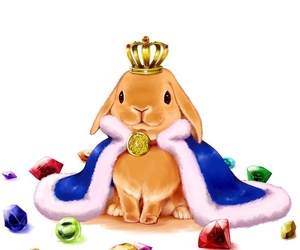 bunny, rabbit, and king image
