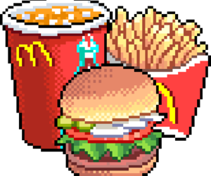 food, pixel, and McDonalds image