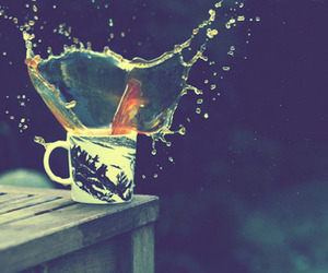 photography, splash, and cup image