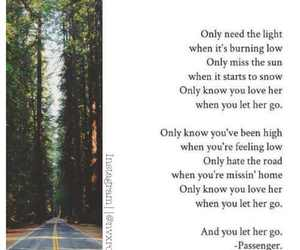Lyrics, let her go, and love image