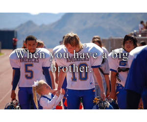 brother, cheerleader, and football image