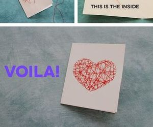 diy, heart, and card image