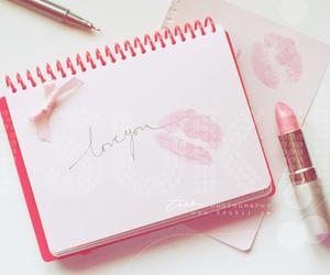 pink, lipstick, and kiss image