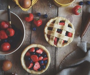 berries, strawberry, and breakfast image