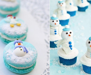 cupcake and snowman image