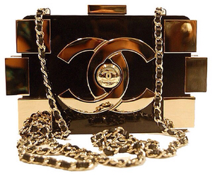 chanel, gold, and bag image