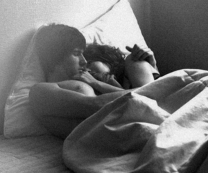 black and white, couple, and cuddle image